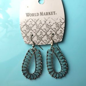World Market NWT turquoise earrings